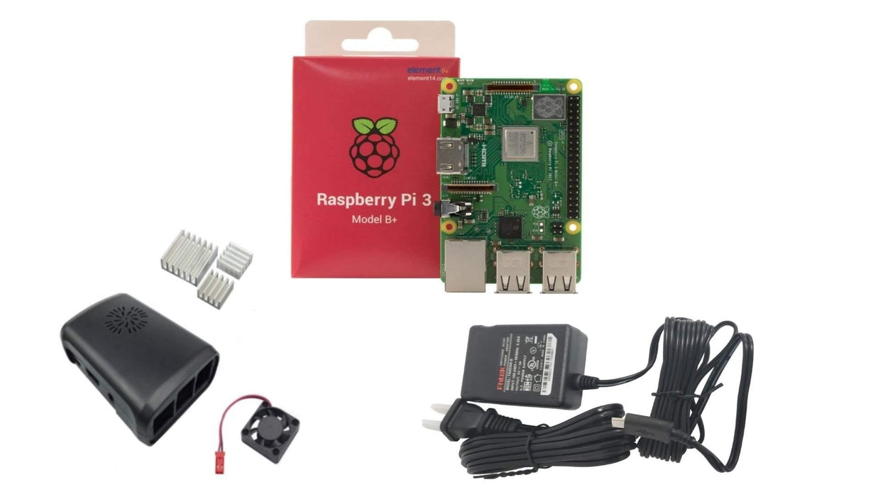 KIT BÁSICO RASPBERRY PI 3 B+ -  - MICROSIDE TECHNOLOGY