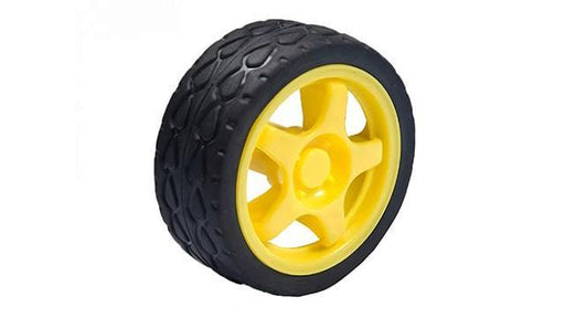 LLANTA DE GOMA PARA MOTORREDUCTOR D65 mm COLOR AMARILLO -  - MICROSIDE TECHNOLOGY