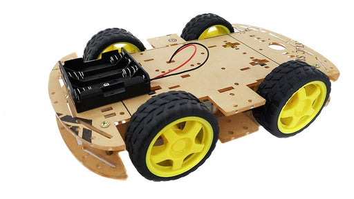 ROBOT MOVIL SEGUIDOR DE LINEA O SUMO 4WD DOBLE