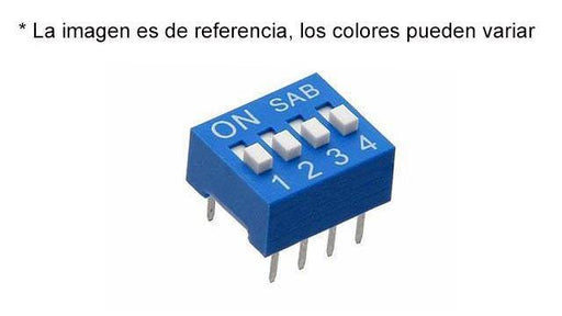 SWITCH DESLIZABLE (DIP SWITCH) 4 POSICIONES