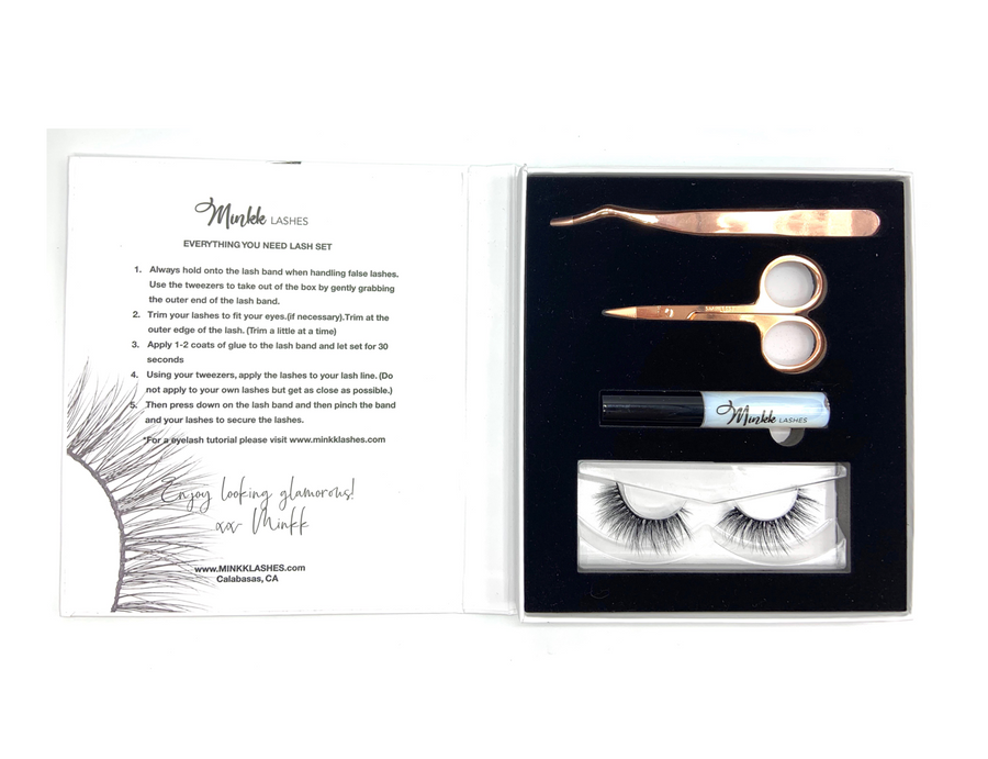 Daly Mink Lashes Gift Set - Mink Lashes, 3D Mink Lashes, False Lashes , Wispy lashes , Vegan faux mink,