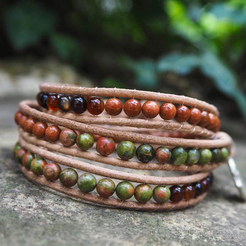The Autumn (Harmony and Happiness) - Crystal Handmade Bracelets
