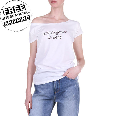 Intelligence Is Sexy Women's T-Shirt in White
