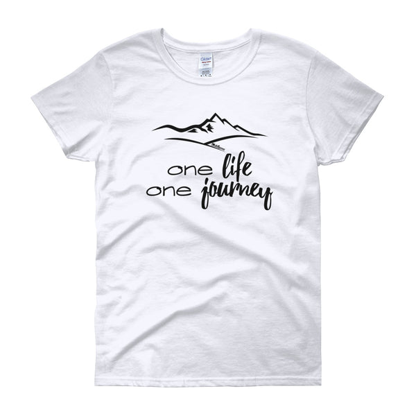 One Life - One Journey Women's T-Shirt in White