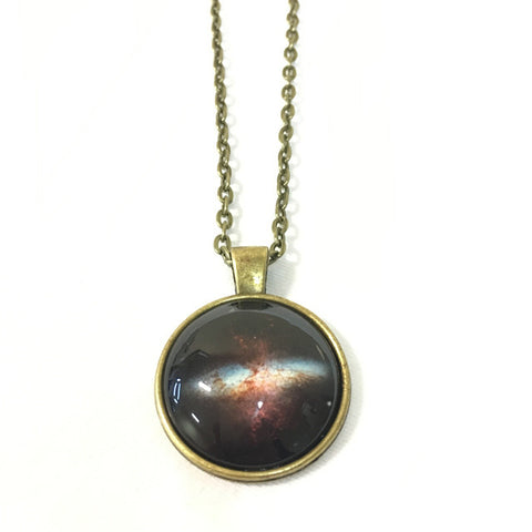 Handmade Necklace - Starburst Galaxy M82