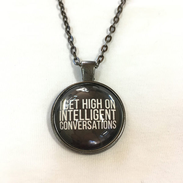 Handmade Necklace - Intelligence Conversation in Black