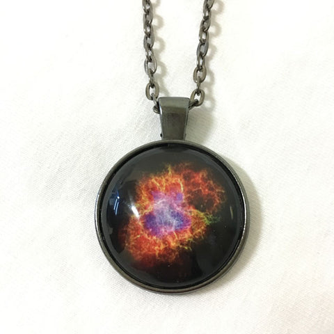 Handmade Necklace - Crab Nebula: a Dead Star Creates Celestial Havoc