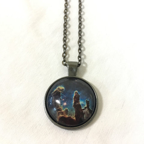 Handmade Necklace - Eagle Nebula: 2014 Hubble WFC3/UVIS Image of M16