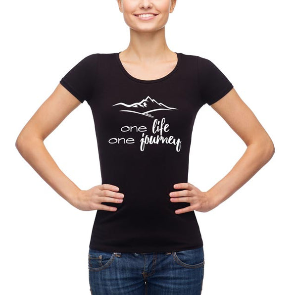 One Life - One Journey Women's T-Shirt in Black