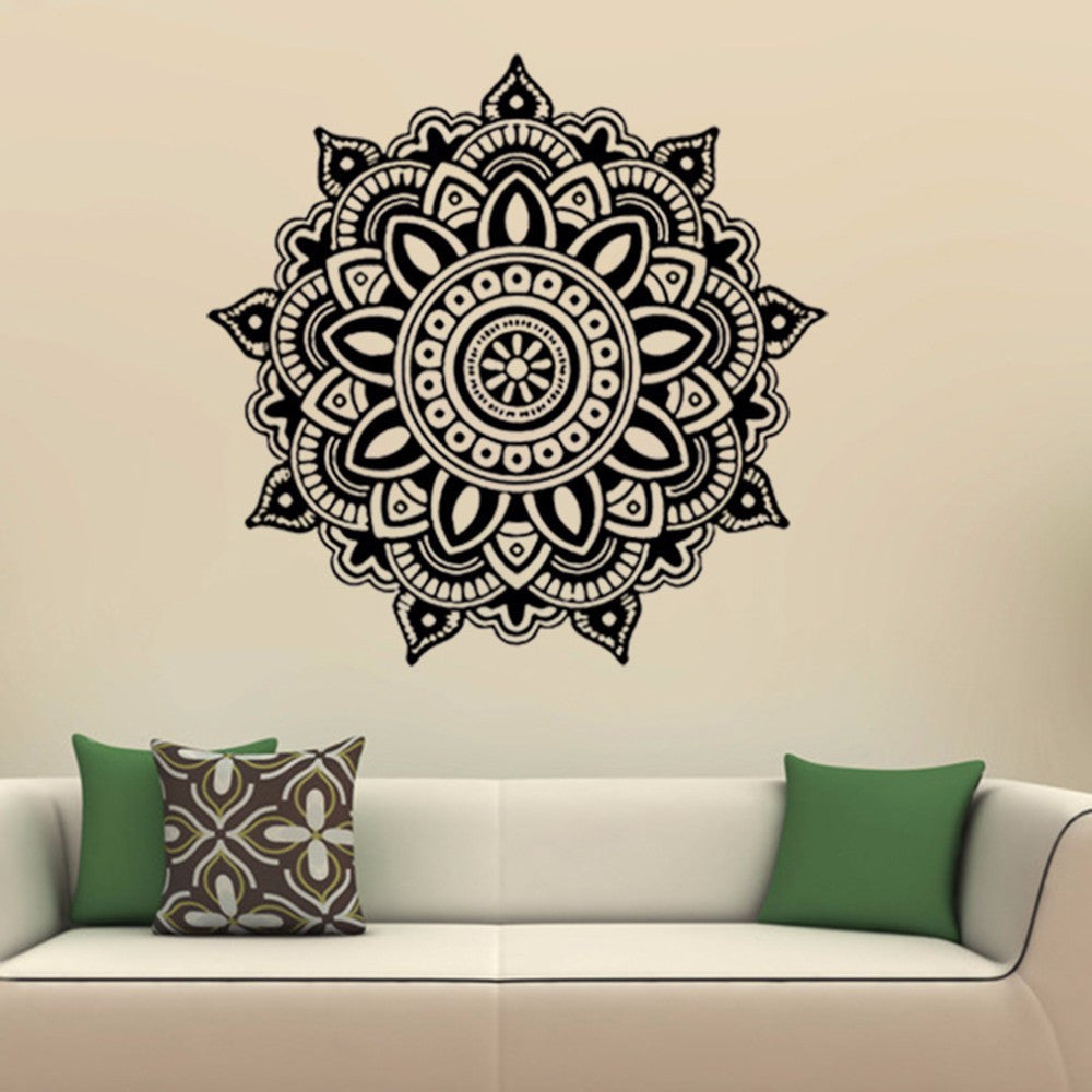 Mandala Flower Indian Bedroom Wall Decal Art Stickers