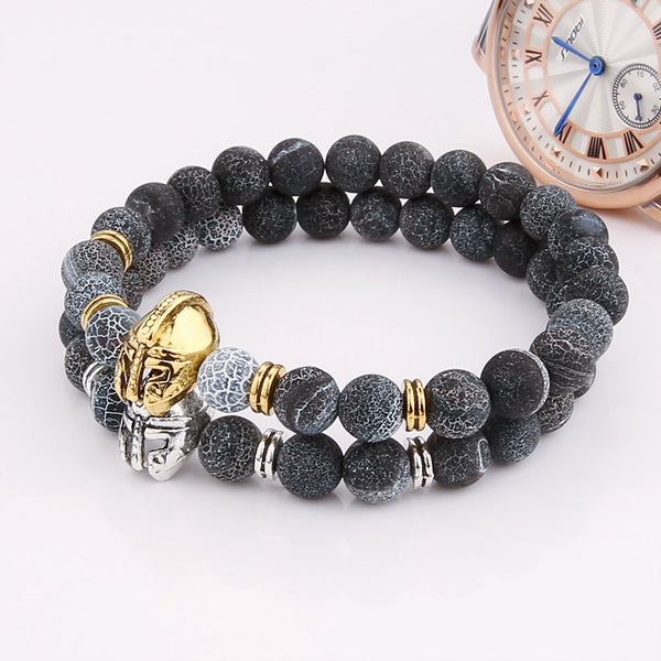 V.YA Fashion Man's Jewelry Helmet Bracelets