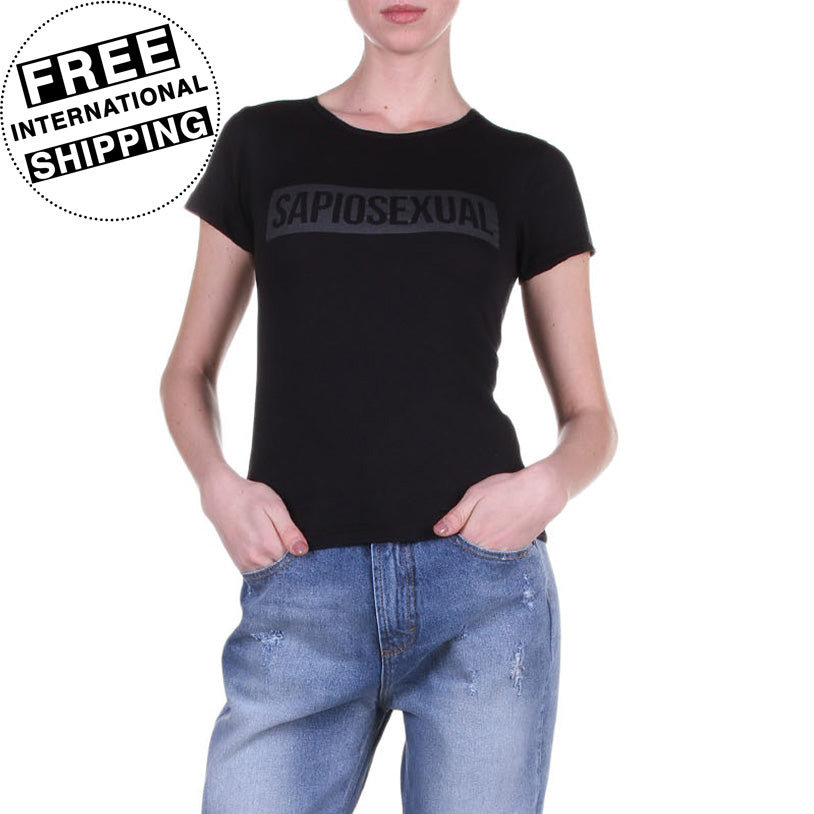 Sapiosexual - Women's T-Shirt in Black