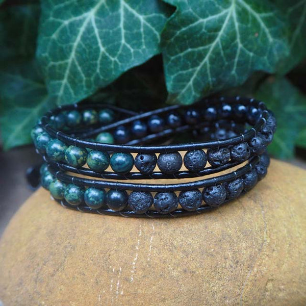 The Volcano (Strength and Energy) - Crystal Handmade Bracelets