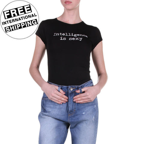 Intelligence Is Sexy Women's Black T-Shirt