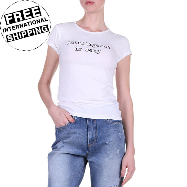Intelligence Is Sexy Women's White T-Shirt