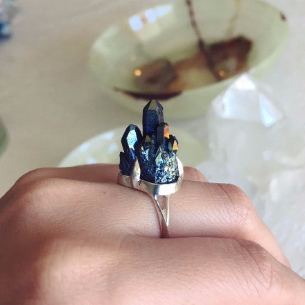 Ready To Ship Crystal Castle Ring