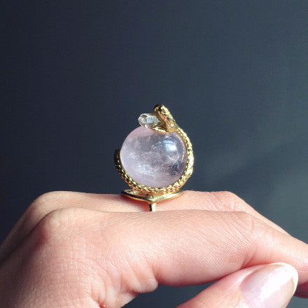 Ready To Ship Crystal Ball Ring