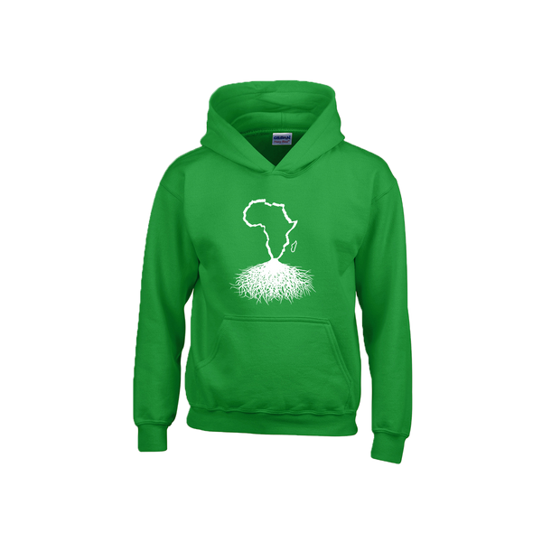Africa Roots Hoodie - White Outline