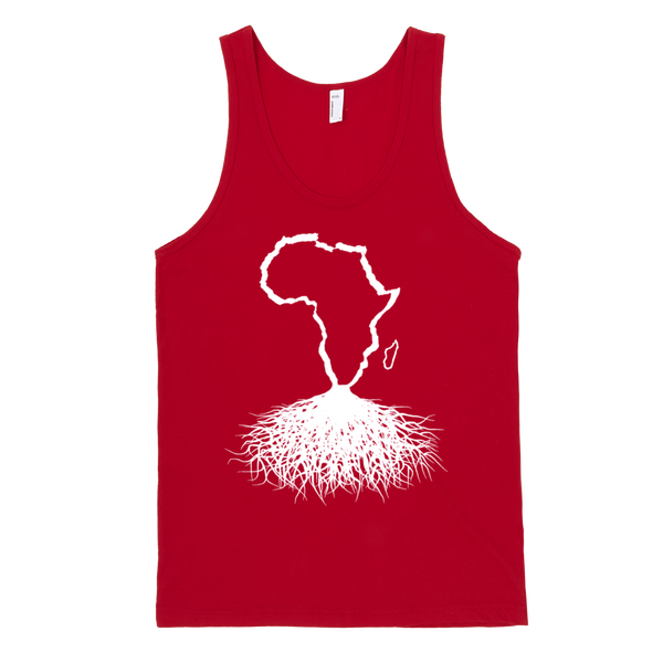 Africa Roots - White Outline