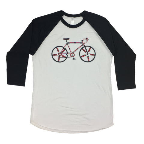 Salish Haida Native Style Bicycle 3\4 Length Shirt