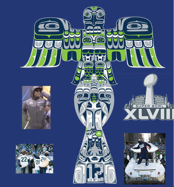 Seahawks Native Totem Superbowl Trophy. T Shirt