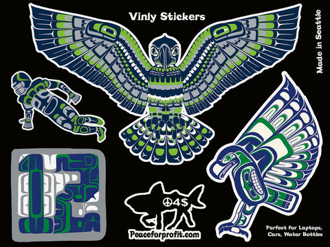 Seahawk Vinyl Sticker Sheet