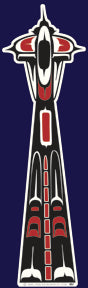 Vinyl Space Needle Sticker