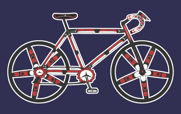 Salish Haida Native Style Bicycle T Shirt