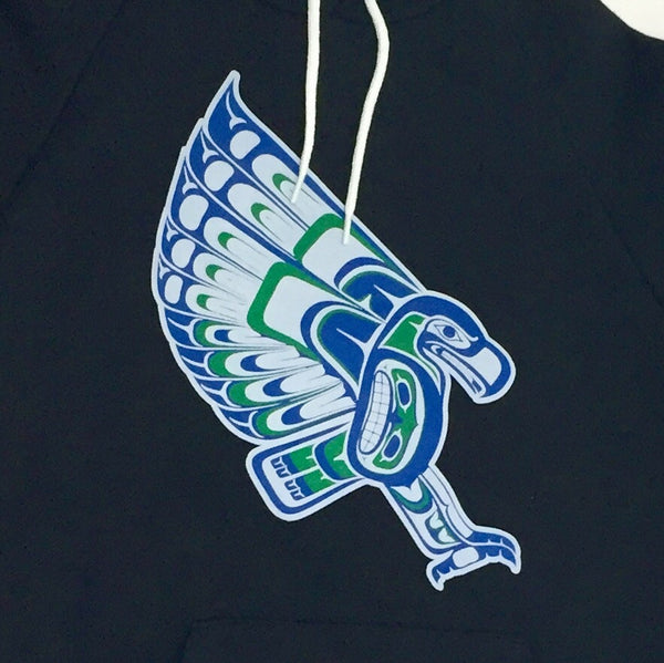 Native Style Seahawk. Tribal Coast Salish Haida inspired Seahawk Hoodie
