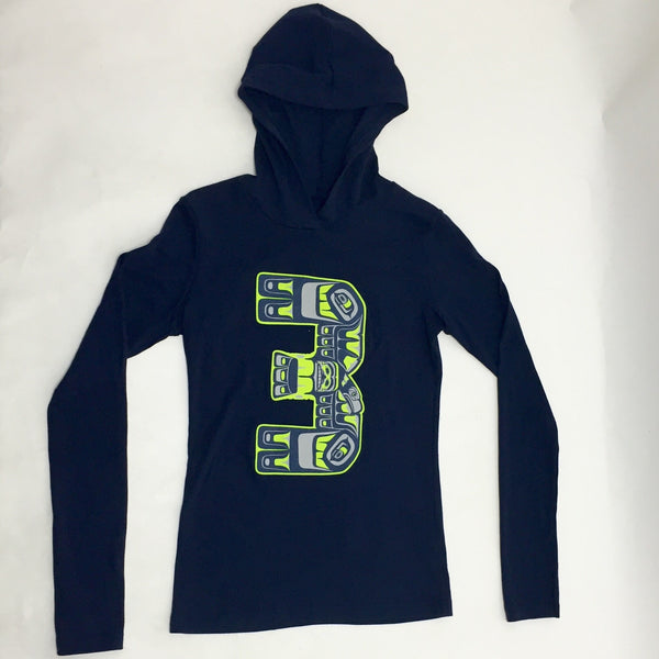 Tribal #3 Native Style Russel Wilson Light Weight Hoodie