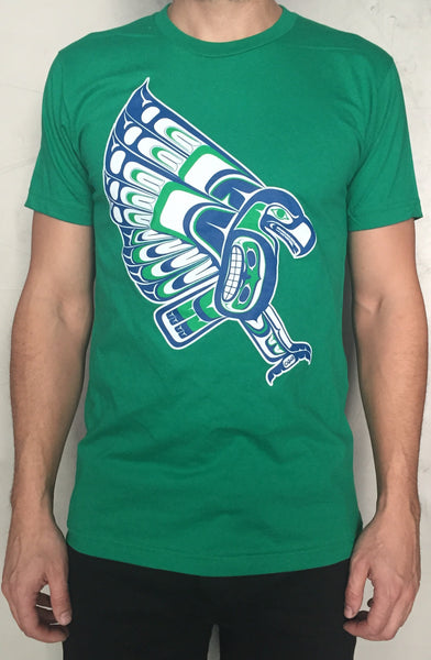 Wholesale T Shirt Native Style Seahawk