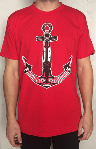 Northwest Native Inspired Form Line Anchor T Shirt   Haida, Coast Salish,
