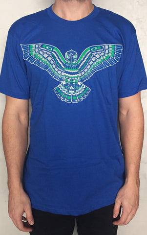New Native Seahawks T Shirt. Tribal Haida Coast Salish Style