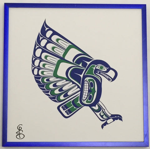 Haida, Coast Salish, Northwest Native Inspired Seahawk Print