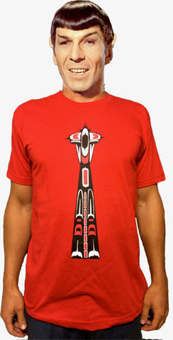 Haida, Coast Salish, Northwest Native Inspired Form Line Space Needle T-Shirt (Men's)