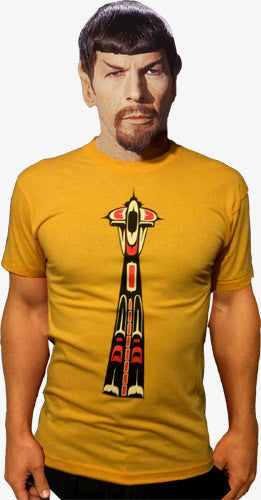 Northwest Native Inspired Space Needle T-Shirt. Haida, Coast Salish,