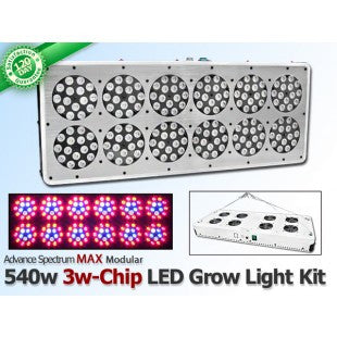 540 Watt Advanced Spectrum MAX 3w-Chip Modular LED Grow Light Panel