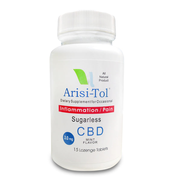 ArisiTol Sugarless Mint CBD Lozenges