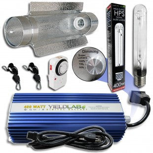 Yield Lab 400w HPS Cool Tube Reflector Digital Grow Light Kit