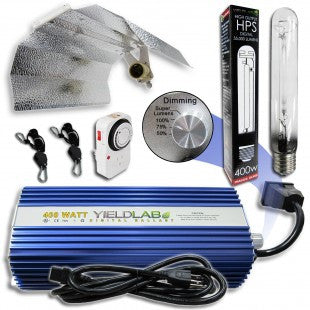 Yield Lab 400w HPS Wing Reflector Digital Grow Light Kit