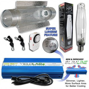 Yield Lab 1000w HPS Cool Tube Reflector Digital Grow Light Kit