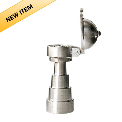 Hinged Baseball Cap Titanium 6 in 1 Domeless Nail