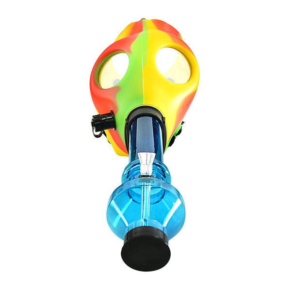 Multi Color Gas Mask w/ Water Pipe