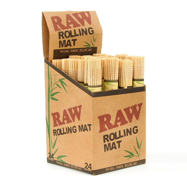 Raw Natural Bamboo Rolling Mats - 24 Count