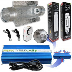 Yield Lab 1000w HPS+MH Cool Tube Reflector Grow Light Kit
