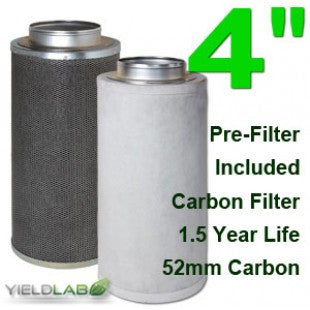 Yield Lab 4 Inch Purifier Activated Charcoal Filter