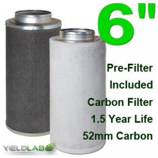 Yield Lab 6 Inch Purifier Activated Charcoal Filter