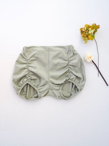 Khaki 2 in 1 Suspender/Pucker Shorts