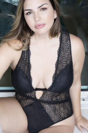 Lucette Edgy Lace Teddy