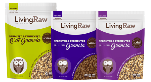 NEW! Sprouted and Fermented Granola - Variety 3 Pack or Full Case w/10% OFF